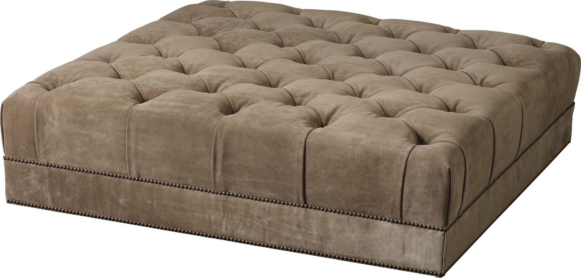 Baker Furniture Thomas Pheasant|Baker Designer Upholstery Paris Ottoman    Tufted 6132O 1