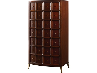 Baker Furniture Thomas Pheasant Bevel Tall Cabinet/Bar 8670-1
