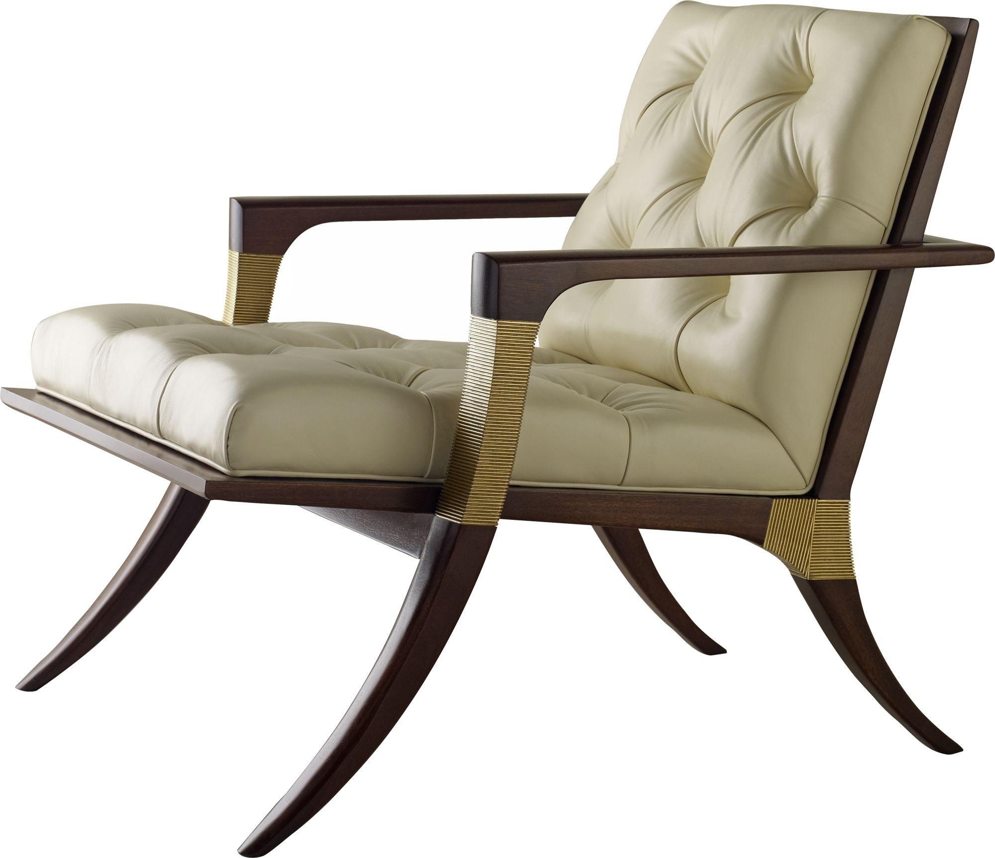 Baker Furniture Thomas Pheasant|Baker Designer Upholstery Athens Lounge  Chair   Tufted 6134C 1