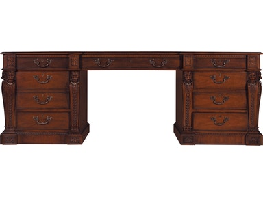 Baker Furniture Stately Homes Pedestal Desk 5387