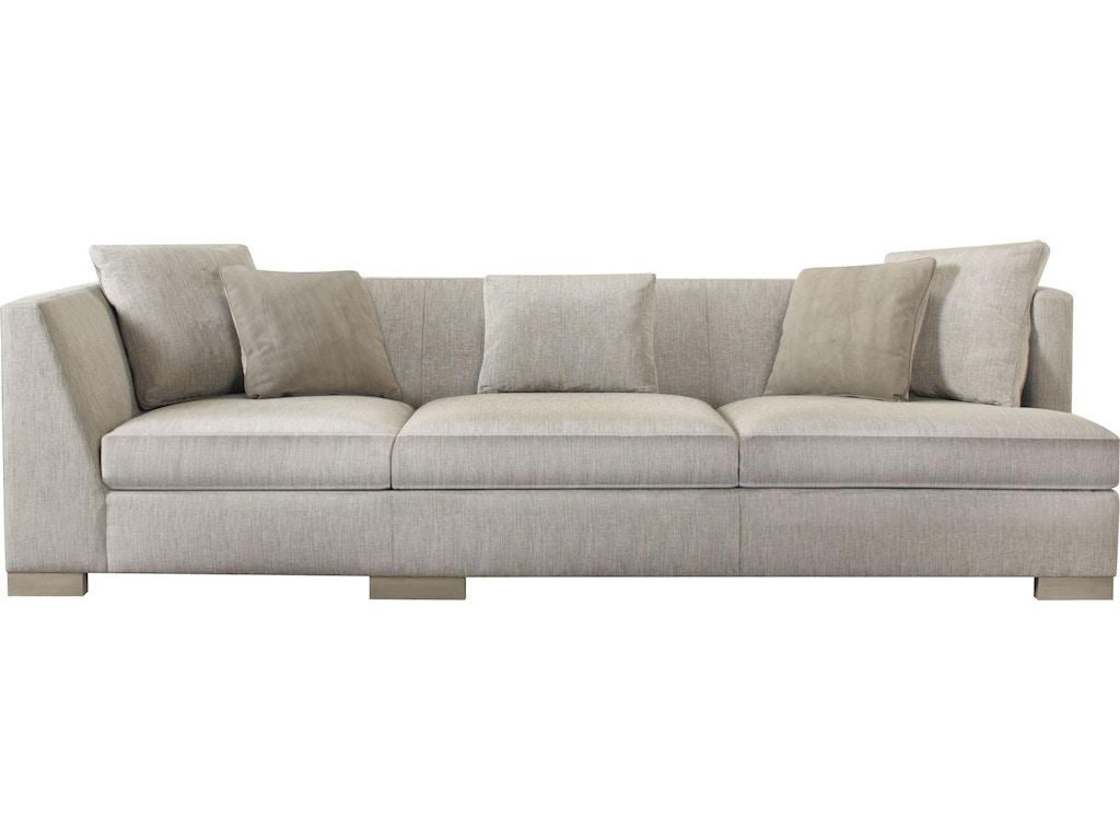 Baker Furniture Barbara Barry Designer Upholstery Social Scene Corner Sofa Left Right