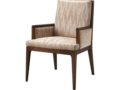 Baker Furniture Barbara Barry Carmel Upholstered Dining Arm Chair 3643-1