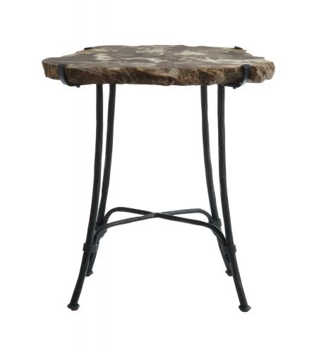 Bernhardt Interiors Petrified Wood Slab Side Table 323 125