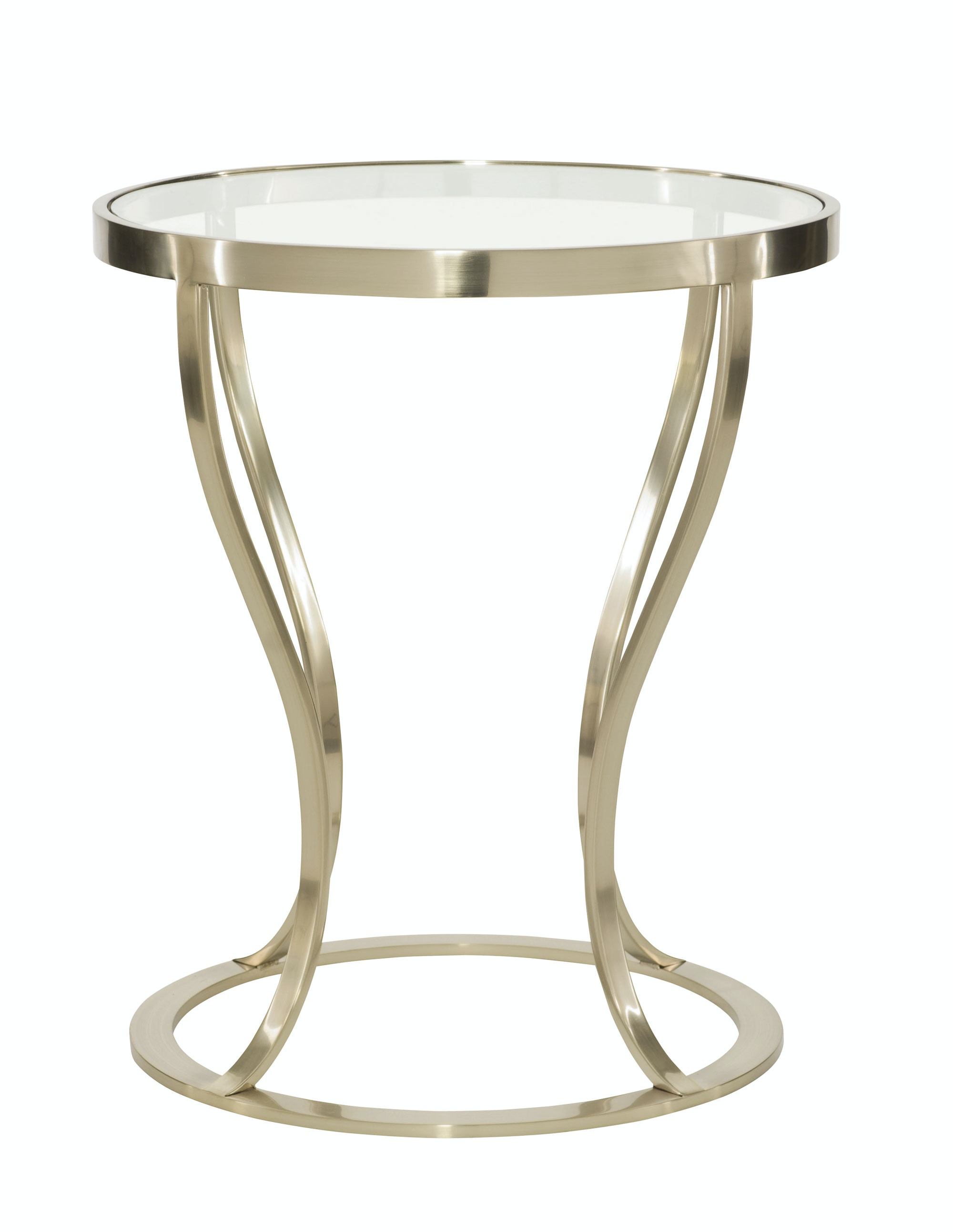Bernhardt Furniture Miramont Round Metal Side Table Bernhardt Furniture  360 124