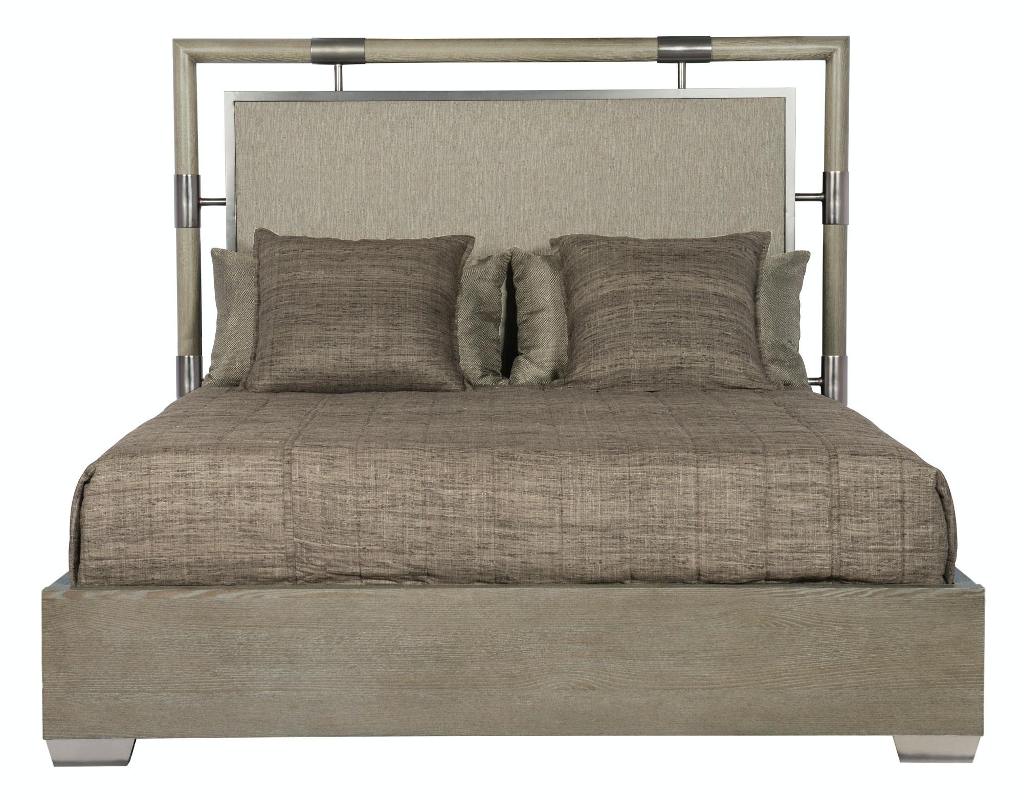 Bernhardt Furniture Mosaic Upholstered Panel Bed 373 H06, 373 FR06