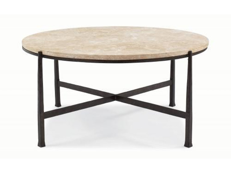 Bernhardt Interiors Duncan Round Tail Table Stone Top 418 016s