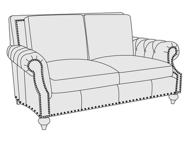 Bernhardt Furniture Nelson Loveseat 2075L
