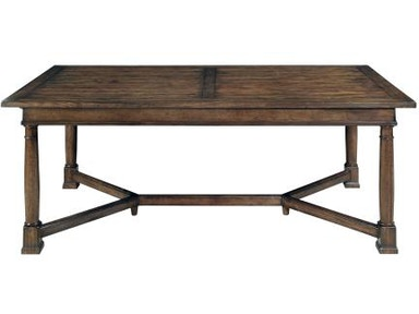 322 224 Vintage Patina Trestle Table