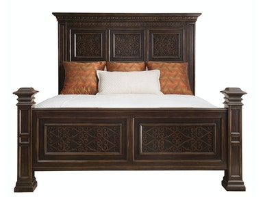 Bernhardt Furniture Pacific Canyon Panel Bed 349-H09-F09-R09