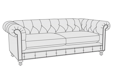 Bernhardt Furniture London Club Loveseat B2275