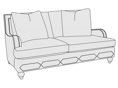 Bernhardt Furniture Franklin Loveseat B4825