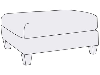 Bernhardt Furniture Brooke Ottoman B6391