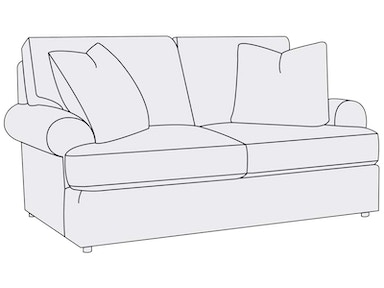 Bernhardt Furniture Andrew Loveseat B7625