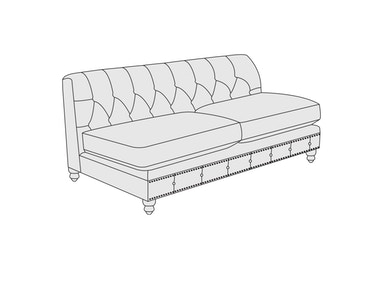 Bernhardt Furniture London Club Armless Lovesest B7740