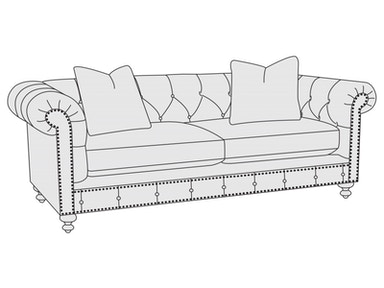 Bernhardt Furniture Riviera Loveseat B8275