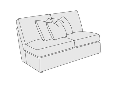 Bernhardt Furniture Perrin Armless Loveseat B8940