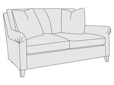 Bernhardt Furniture Sherman Loveseat B9855