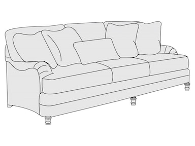 Bernhardt Furniture Tarleton Sofa (86-1/2) T4266