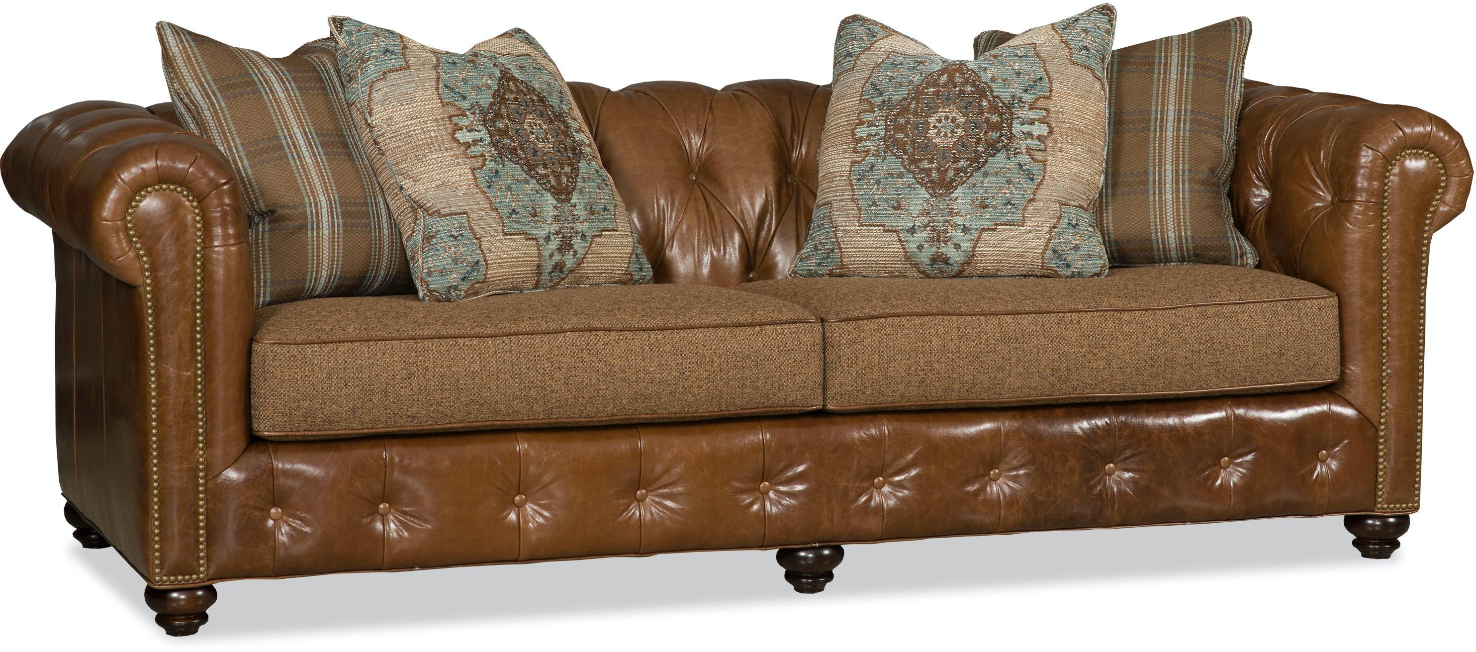 Bradington Young Furniture 698 95 Living Room Wellington  ~ Wellington Leather Sofa