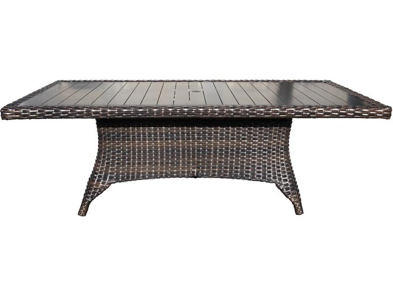CabanaCoast Furniture OutdoorPatio Louvre 112 Rectangle Table 8508 ...