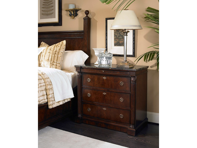 century furniture bedroom wellington court nightstand with marble top