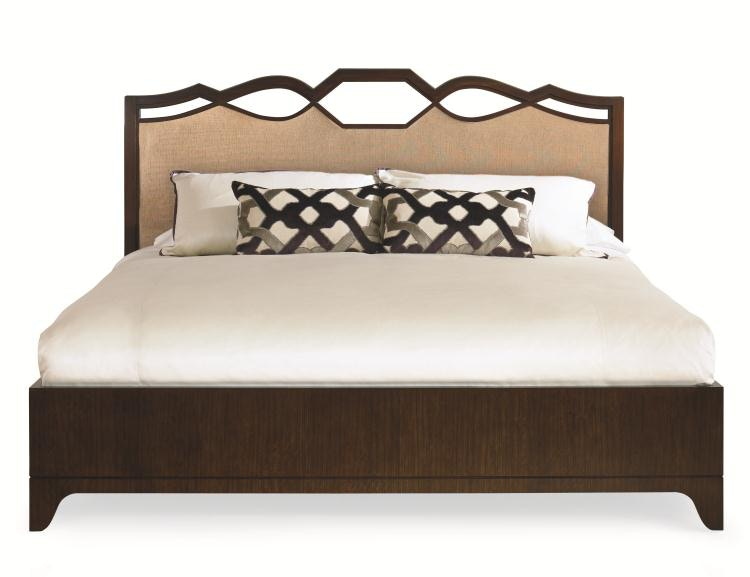 Century Furniture 419176 Bedroom Ogee Bed With Uph Headboard King