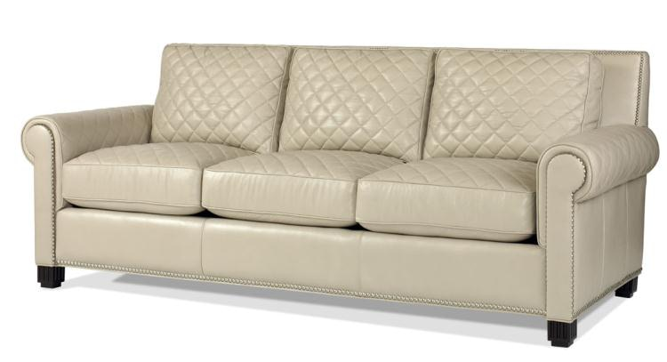 Century Furniture Leather Quilted Sofa Century Plr 5702 Frost