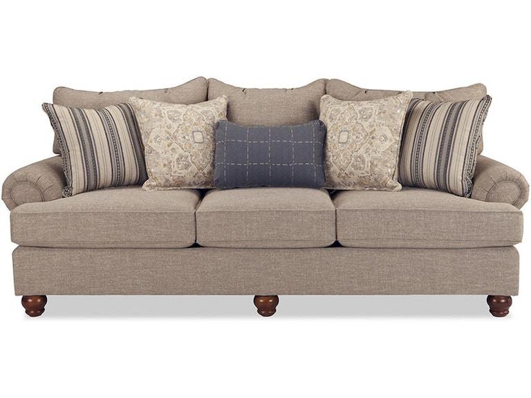 Three Cushion Sofa 78 Off Brown Microfiber Three Cushion