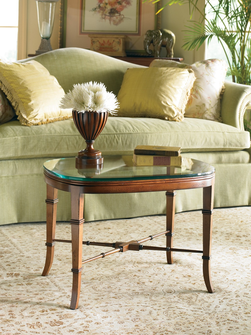 CTH Sherrill DesignClassics Oval Cocktail Table 592 825