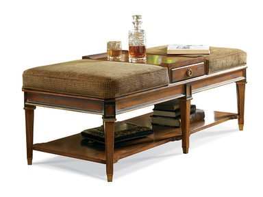 CTH-Sherrill Continental Classics Ottoman Cocktail Table 730-870