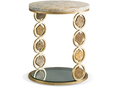 CTH-Sherrill Infinity Petrified Wood Accent Table 966-017G