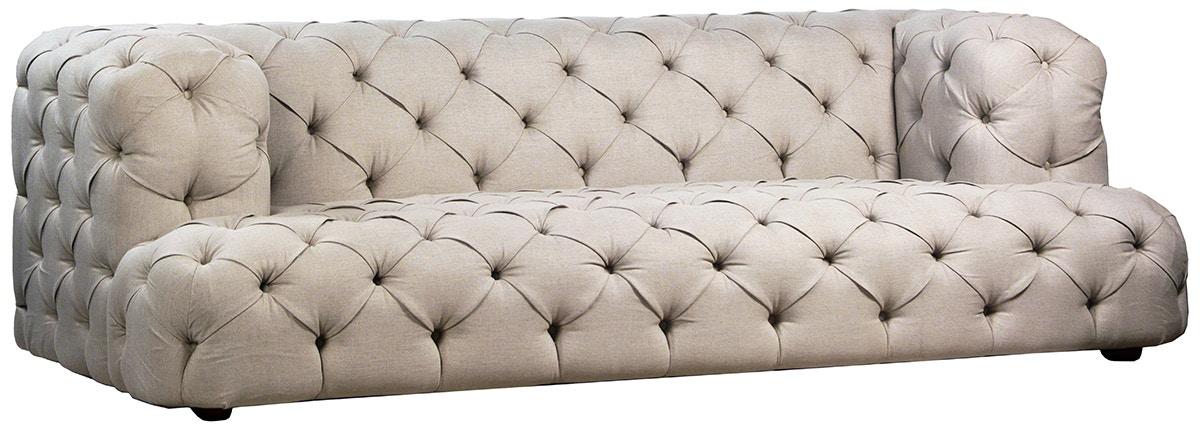 Dovetail Furniture DOV2286 Nottingham Sofa In Oatmeal Linen
