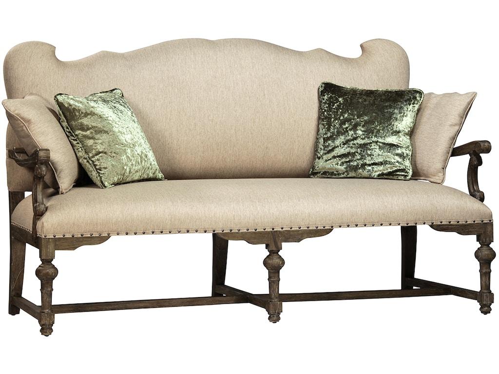 Dovetail furniture living room bollene settee dov2346 for Dovetail furniture