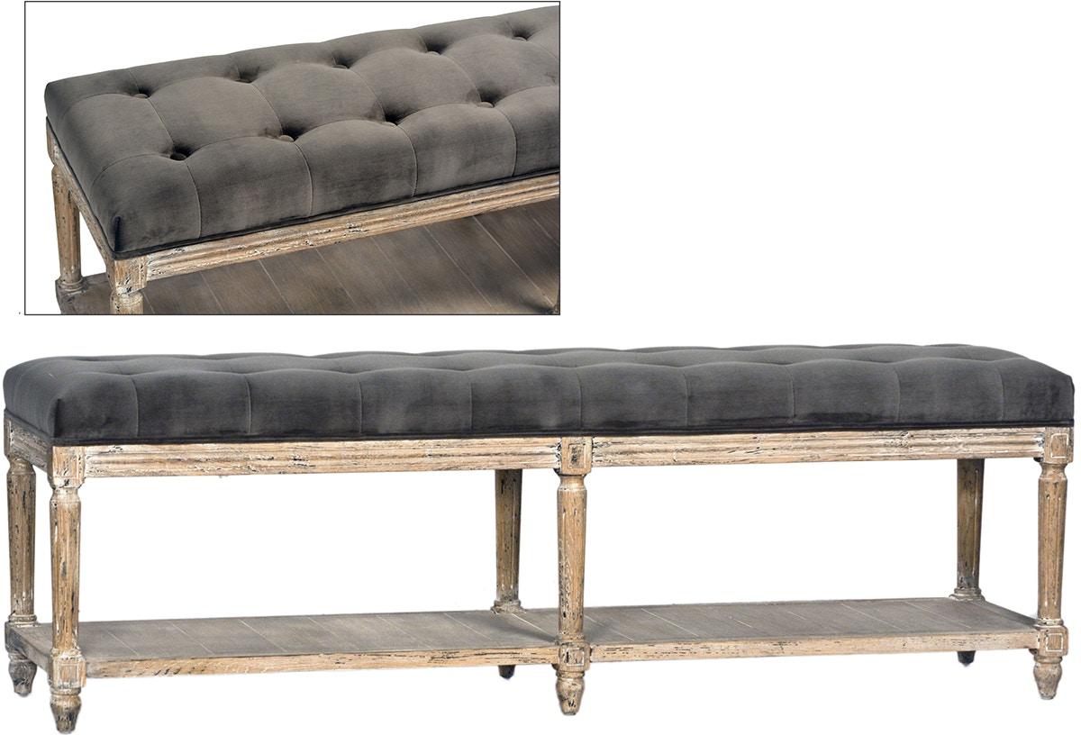 Dovetail Furniture Dov3208 Bedroom Evans Bench