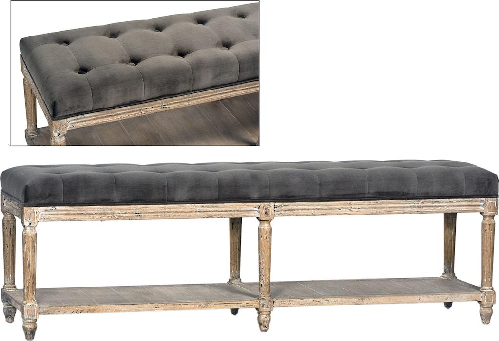 Dovetail furniture dov3208 bedroom evans bench for Dovetail furniture