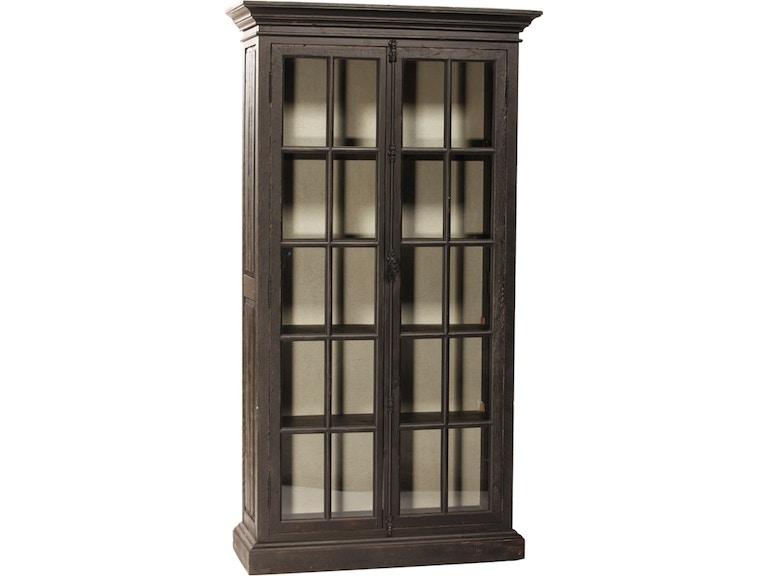 Dovetail Furniture DOV384BL Dining Room Barnsley Cabinet Black