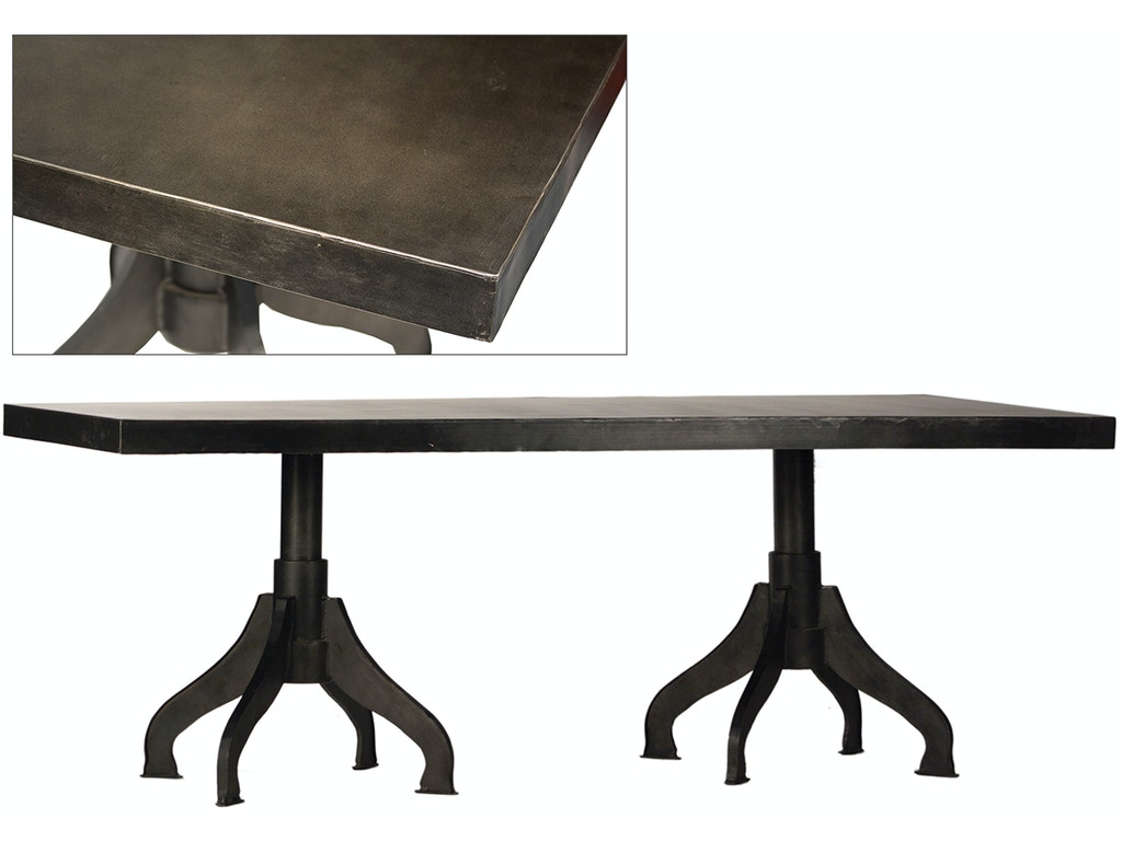 Dovetail furniture dining room bennet dining table ac204 for Dovetail furniture