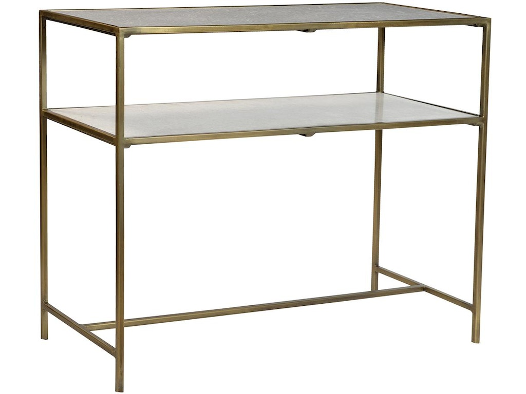 Dovetail furniture living room higgins console brass for Dovetail furniture