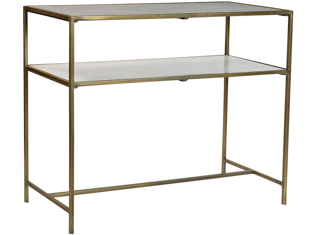 Dovetail Furniture Living Room Higgins Console Brass