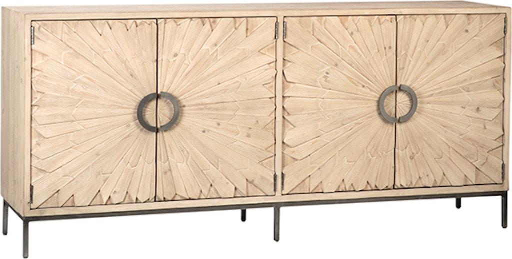 Dovetail Furniture Dov10309 Dining Room Mabari Sideboard Grey White