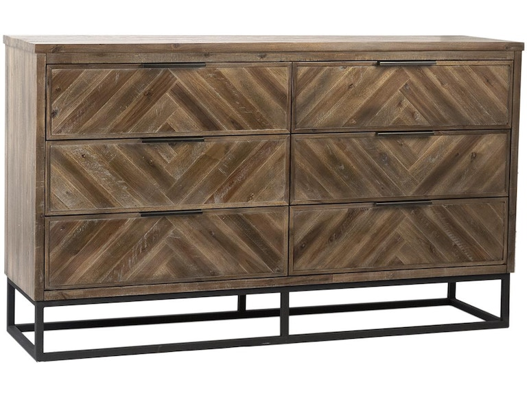 Dovetail Furniture Dov18010 Bedroom Holbrook Dresser