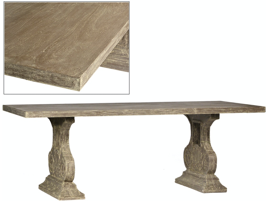 Dovetail furniture outdoorpatio alicante dining table in for Dovetail furniture