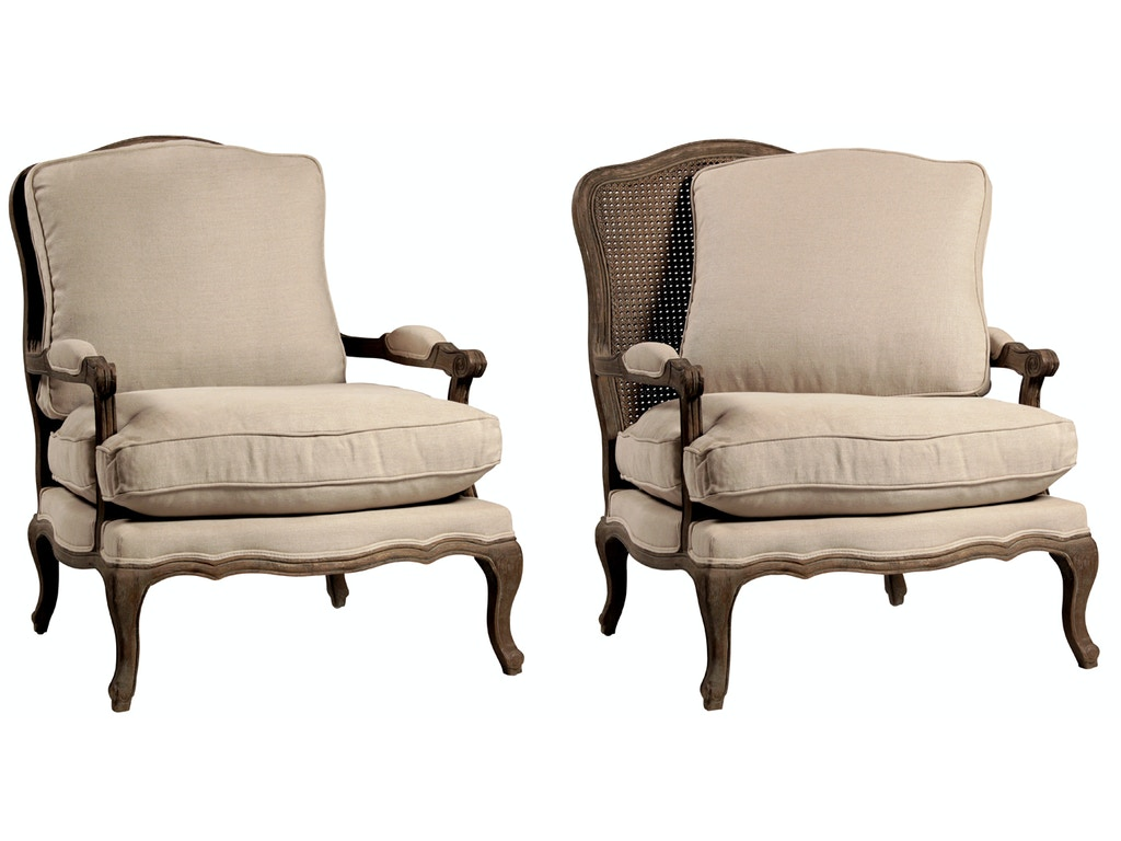 Dovetail furniture dov302 living room dominique bergere chair for Dovetail furniture