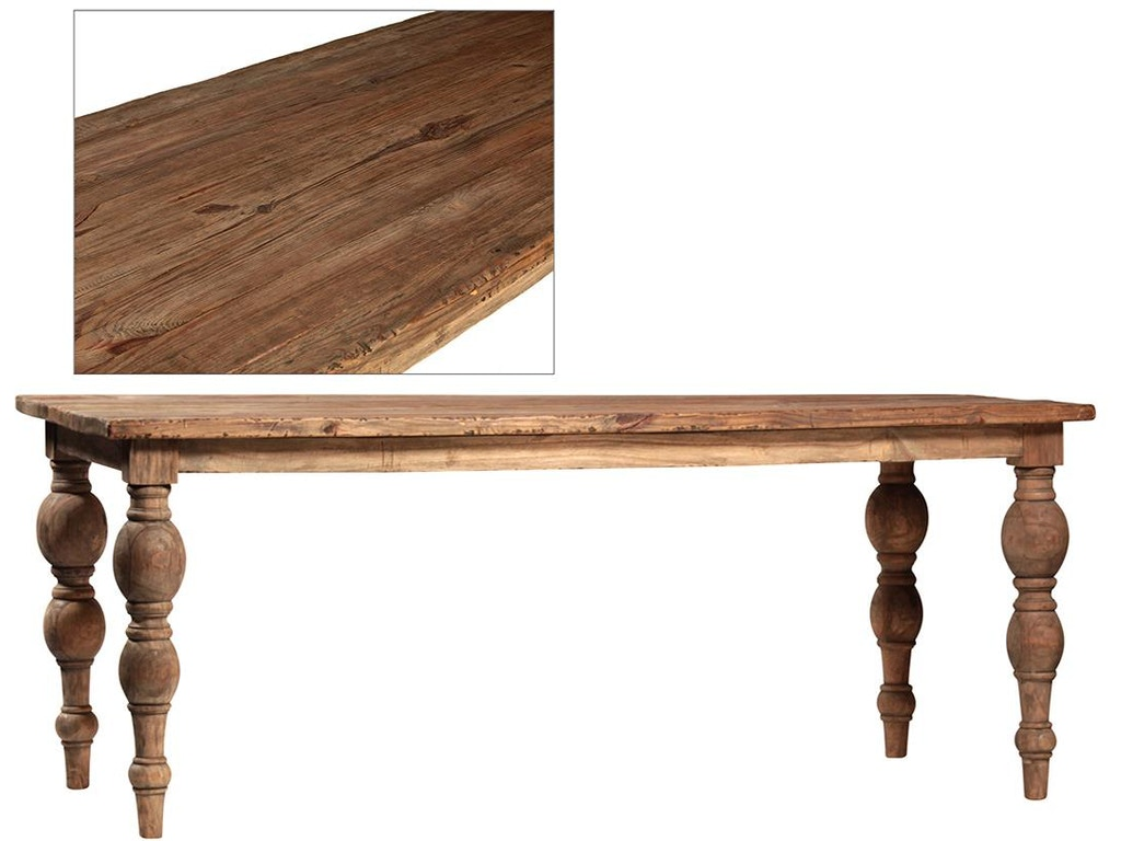 Dovetail furniture dov7707 dining room campbell 70 dining for Dovetail furniture