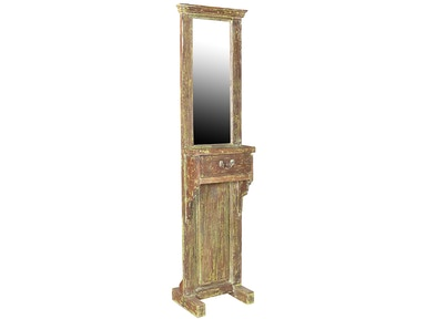 Dovetail Furniture Old Teak Hall Stand With Mirror RA7517