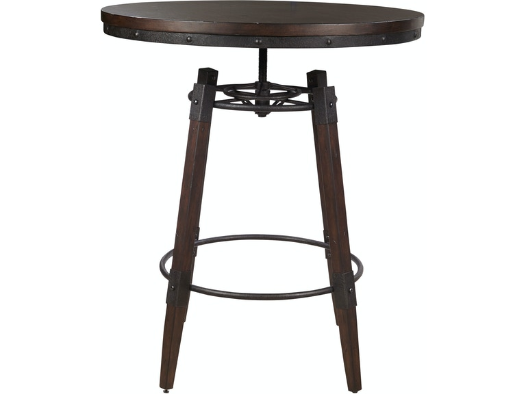 Pulaski furniture ds d167 135 dining room industrial adjustable pulaski furniture industrial adjustable height bar table ds d167 135 watchthetrailerfo