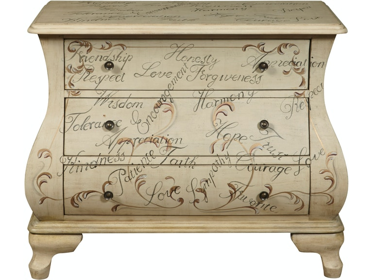 Ski Furniture Ds P017037 Bedroom Hand Painted Words Ay Chest