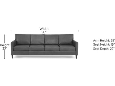 Elite Leather Sofas Aero 4 Seat Sofa