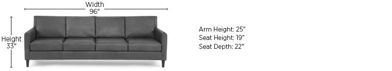 Superbe Elite Leather Sofas Aero 4 Seat Sofa