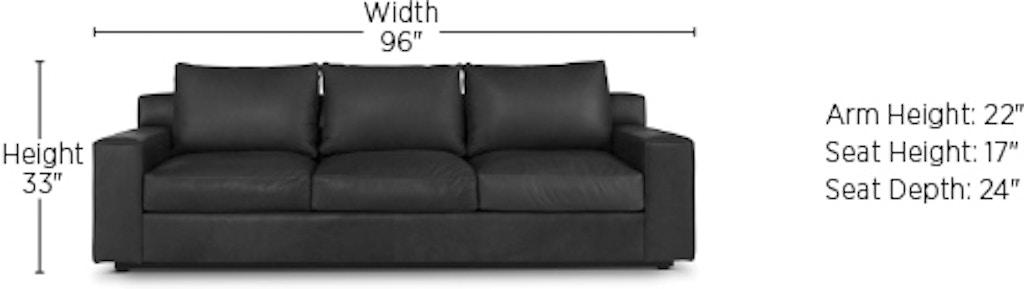 Awesome Elite Leather Barrett 3 Over 3 Sofa Living Room Sofas Creativecarmelina Interior Chair Design Creativecarmelinacom